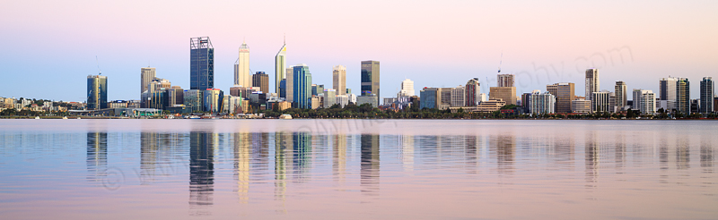 Perth and the Swan River at Sunrise, 18th December 2016
