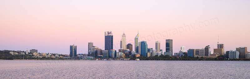Perth and the Swan River at Sunrise, 19th December 2016
