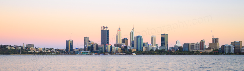 Perth and the Swan River at Sunrise, 20th December 2016