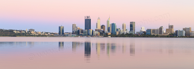 Perth and the Swan River at Sunrise, 29th December 2016