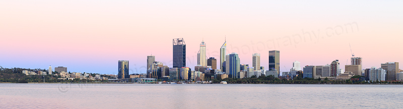 Perth and the Swan River at Sunrise, 2nd January 2017