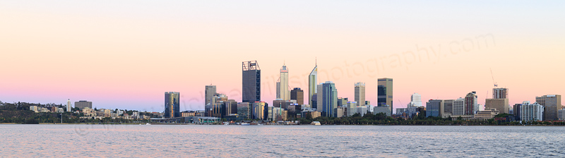 Perth and the Swan River at Sunrise, 3rd January 2017