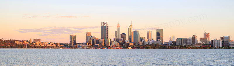 Perth and the Swan River at Sunrise, 4th January 2017