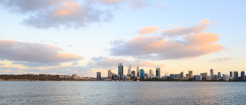 Perth and the Swan River at Sunrise, 6th January 2017