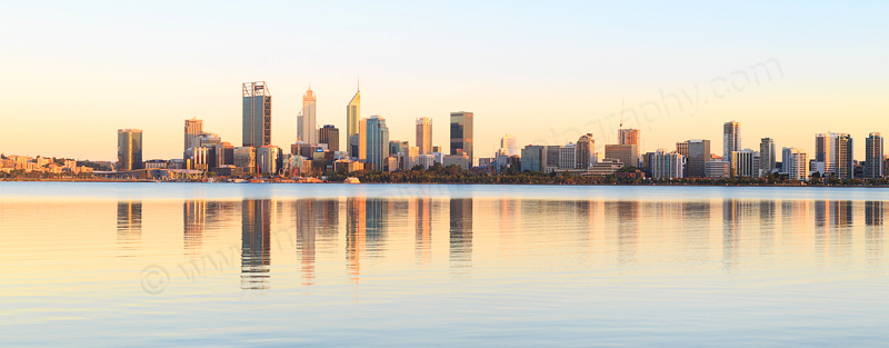 Perth and the Swan River at Sunrise, 7th January 2017