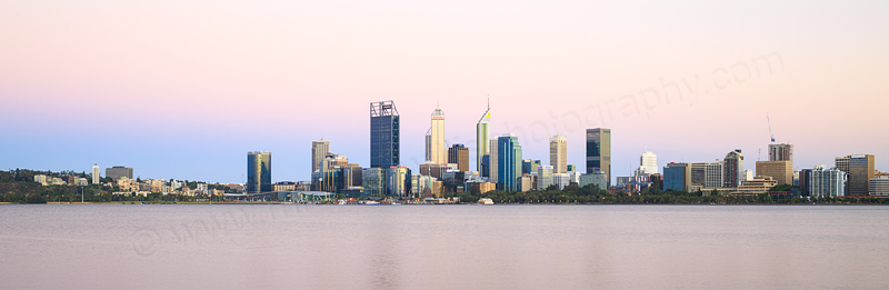 Perth and the Swan River at Sunrise, 9th January 2017