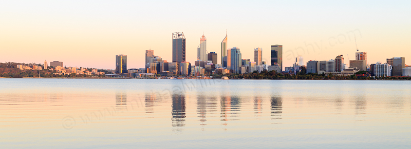 Perth and the Swan River at Sunrise, 11th January 2017