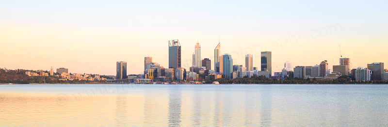 Perth and the Swan River at Sunrise, 14th January 2017