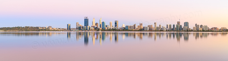 Perth and the Swan River at Sunrise, 15th January 2017