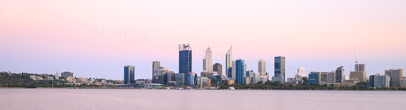 Perth and the Swan River at Sunrise, 17th January 2017