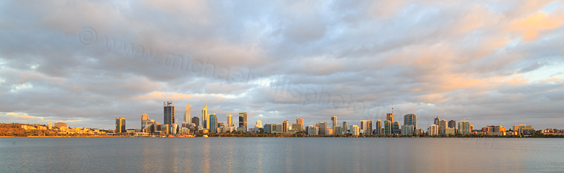 Perth and the Swan River at Sunrise, 19th January 2017