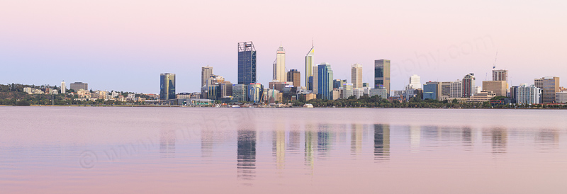 Perth and the Swan River at Sunrise, 20th January 2017
