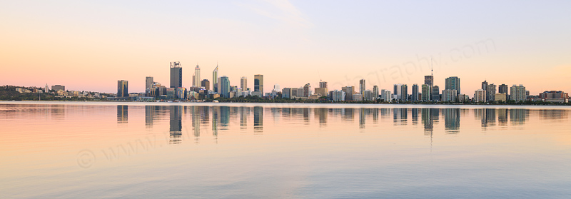 Perth and the Swan River at Sunrise, 21st January 2017