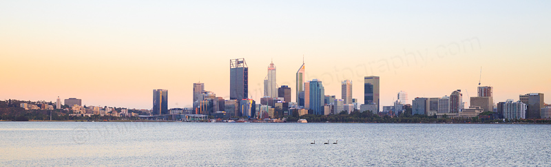 Perth and the Swan River at Sunrise, 22nd January 2017