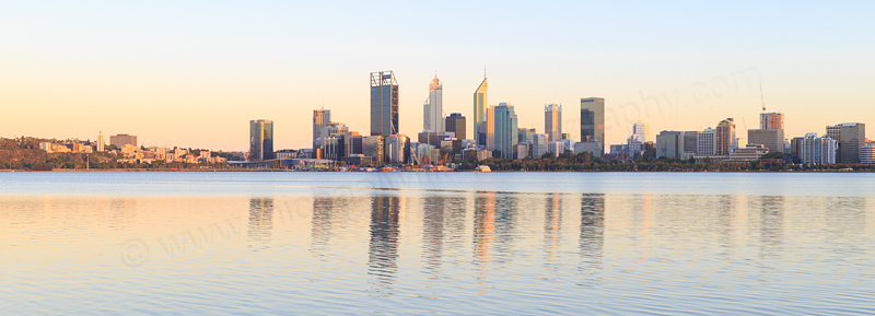 Perth and the Swan River at Sunrise, 24th January 2017