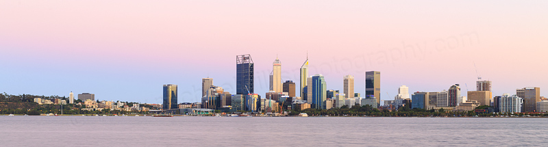 Perth and the Swan River at Sunrise, 26th January 2017