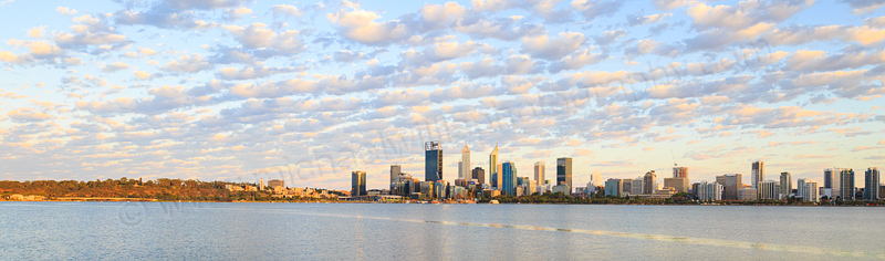 Perth and the Swan River at Sunrise, 28th January 2017