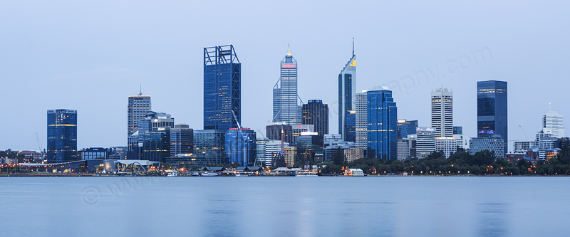 Perth and the Swan River at Sunrise, 31st January 2017
