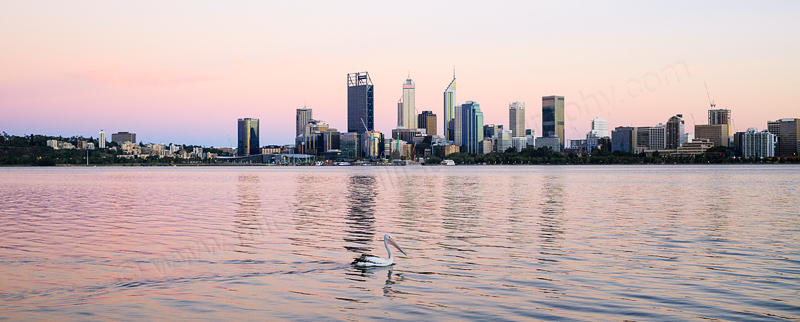 Perth and the Swan River at Sunrise, 2nd February 2017