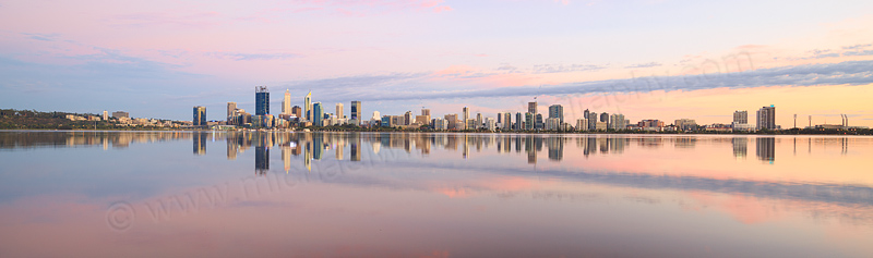 Perth and the Swan River at Sunrise, 3rd February 2017