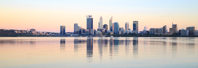 Perth and the Swan River at Sunrise, 4th February 2017