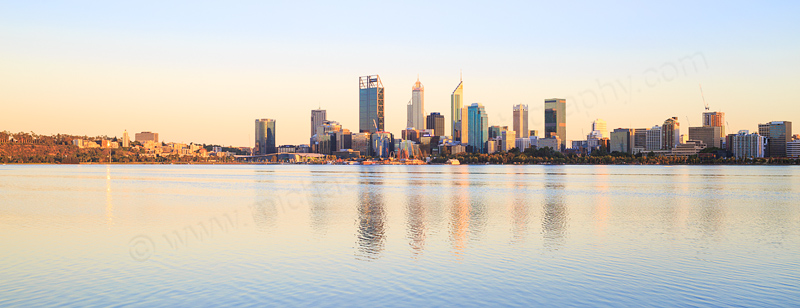 Perth and the Swan River at Sunrise, 5th February 2017