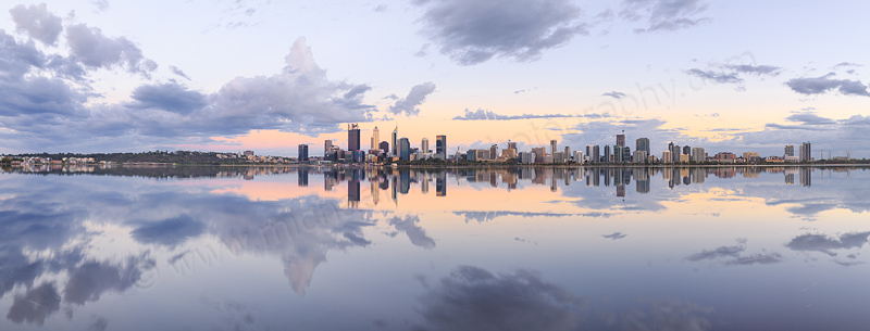Perth and the Swan River at Sunrise, 7th February 2017