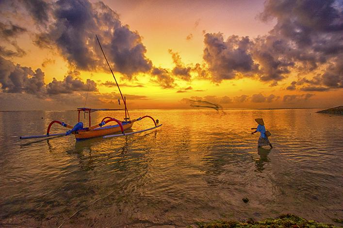 Net Casting, Bali