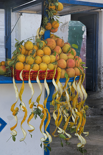Fresh Juice Stand Near the Fishing Port