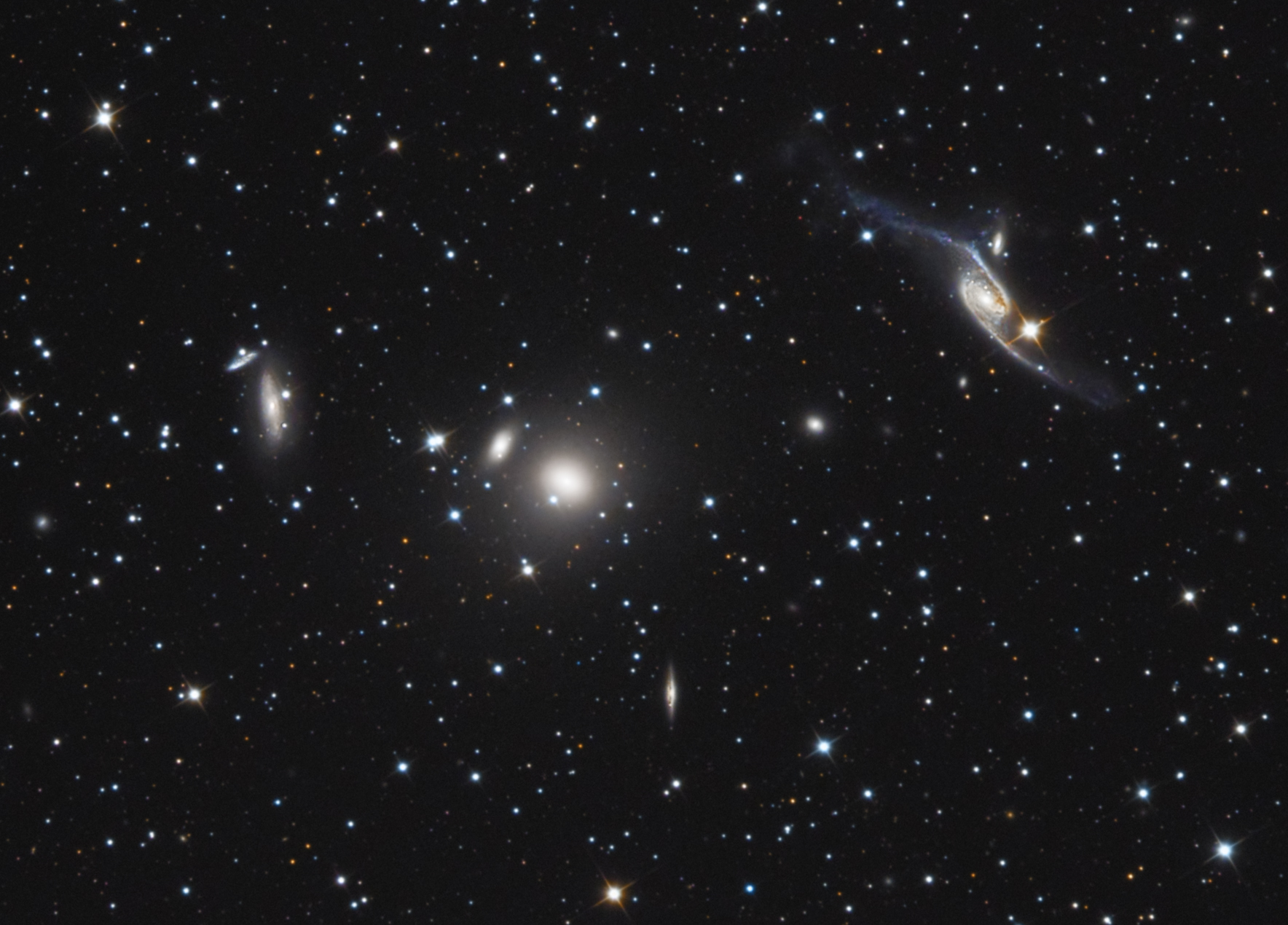 NGC 6872 and Galaxy Cluster in...