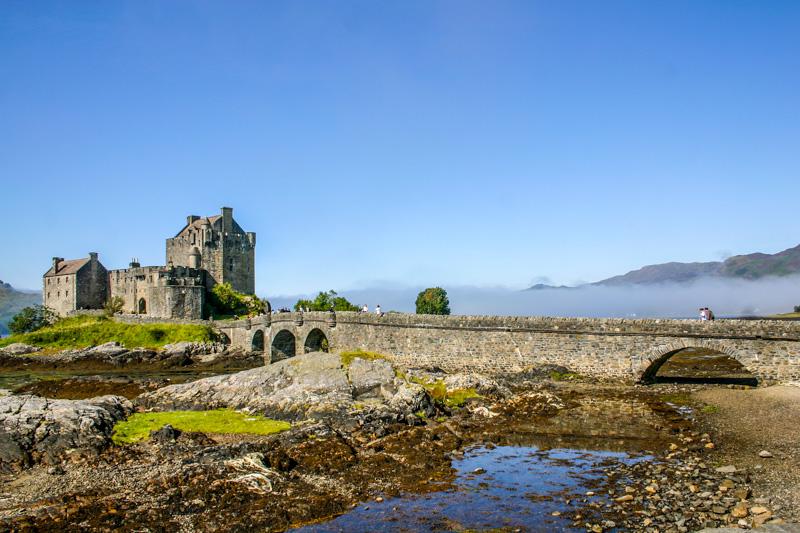 Eileen Donan Castle in Dornie with Loch Duich, Scotland