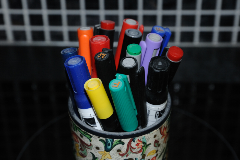 4 June: Collection of Pens