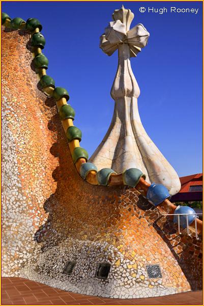 Barcelona - Casa Batllo by Gaudi - Roof Terrace
