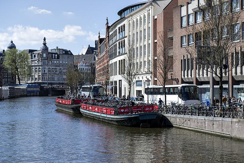 Barge bike parking