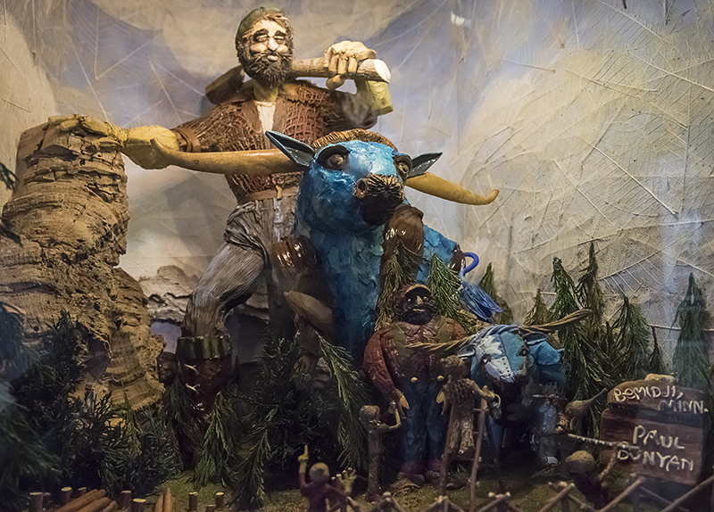 Paul Bunyan and Babe, the Blue Ox