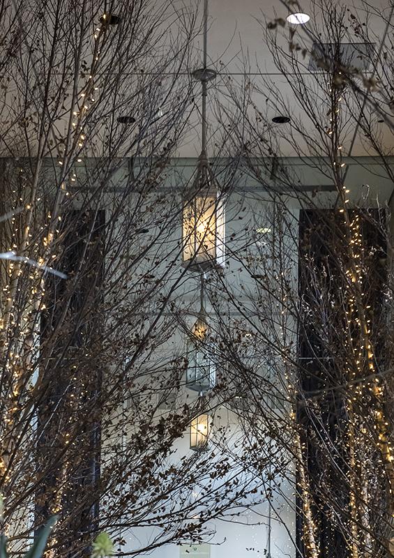 Festive conservatory entry