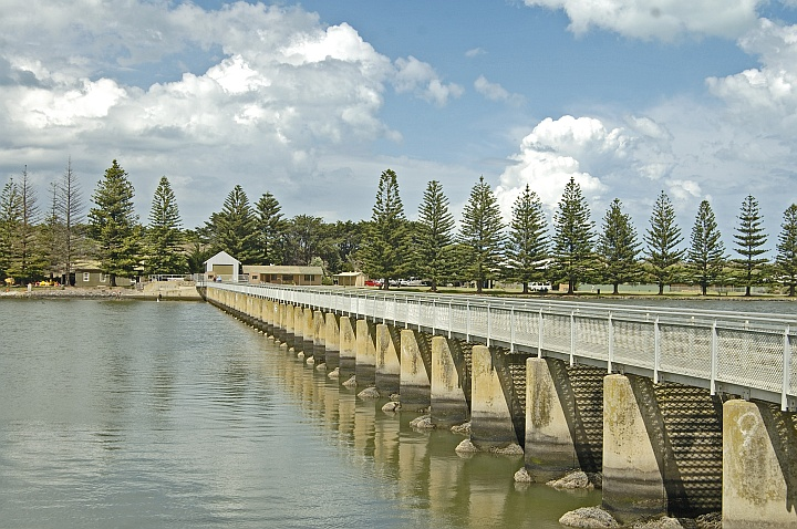 River Murray Barrage at Goolwa, SA