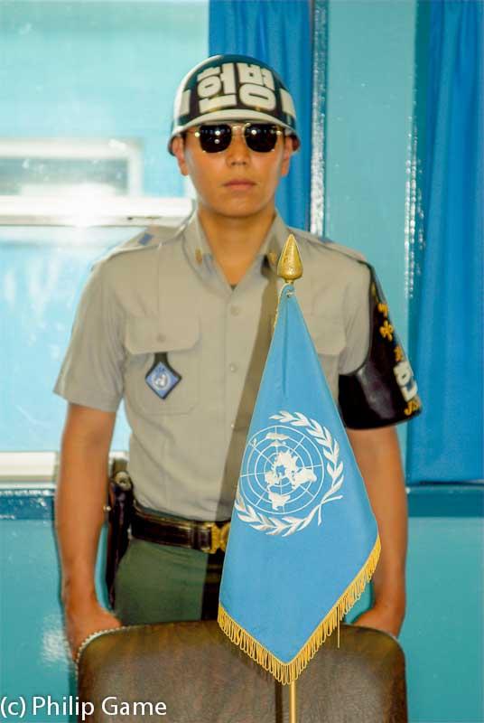 South Korean guard at Panmunjom, DMZ