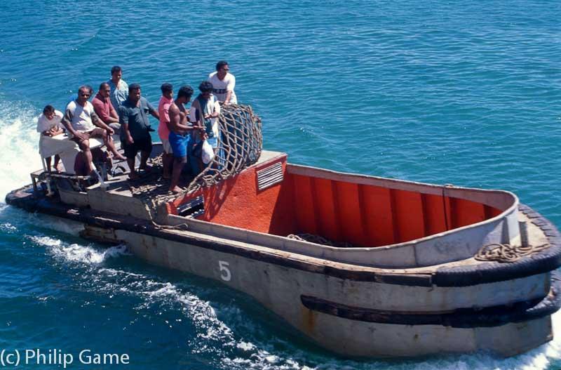 I-Kiribati (Gilbert Islander) boatmen on Nauru