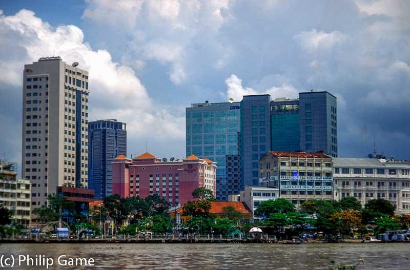 Saigon skyline, from the river