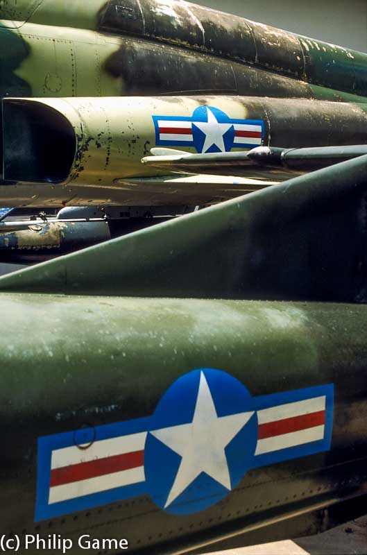USAAF aircraft displayed at the War Remnants Museum