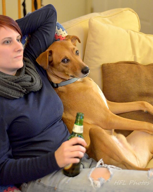 Duke and Amanda Watch TV