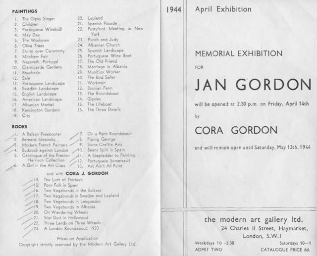 Gordon memorial exhibition. Books owned by Dr. W.D.A. Smith are ticked off.