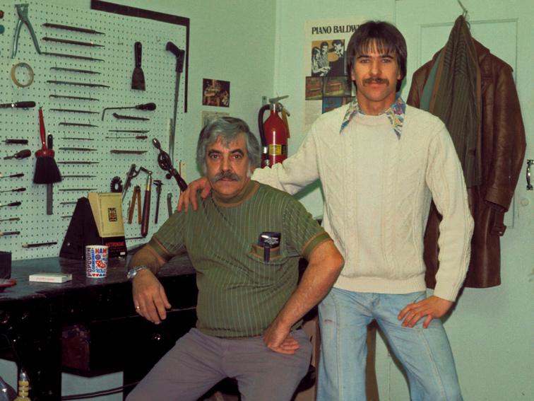 M. Plouffe et moi en 1975