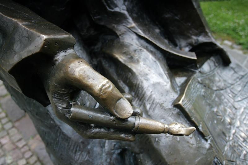 a hand of an artist