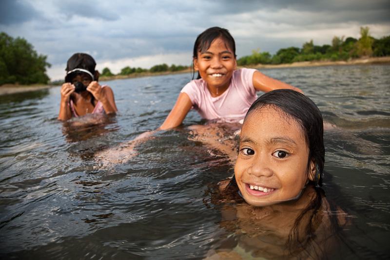 Swimming in Takar river