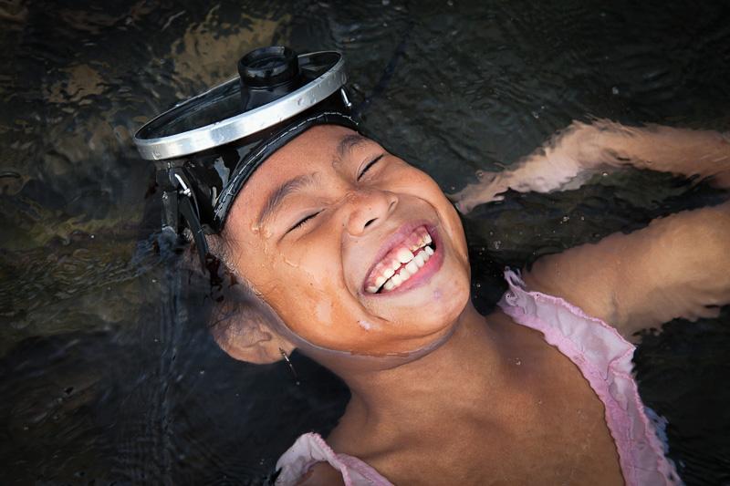 Laughing in Takar river