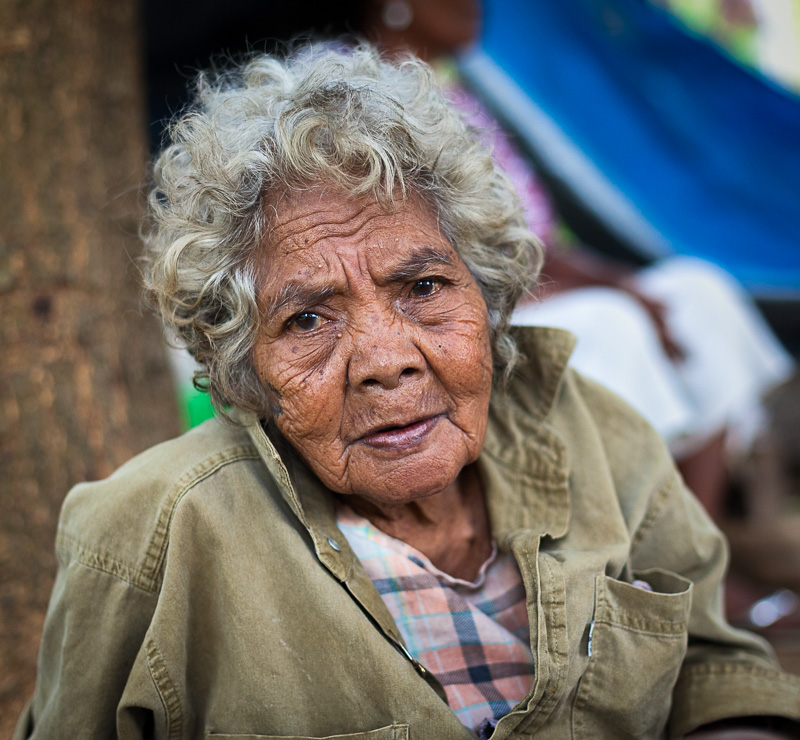 Elderly Aeta woman