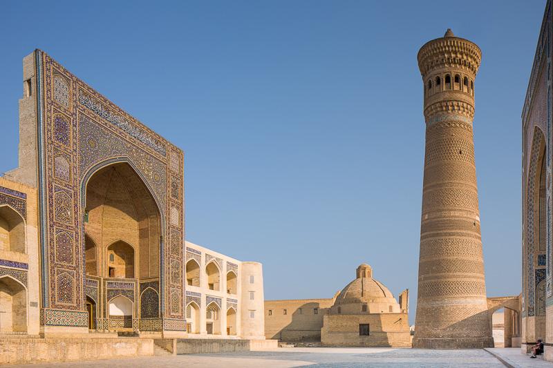 Mir-i-Arab Medressa and Kalon Minaret - Uzbekistan