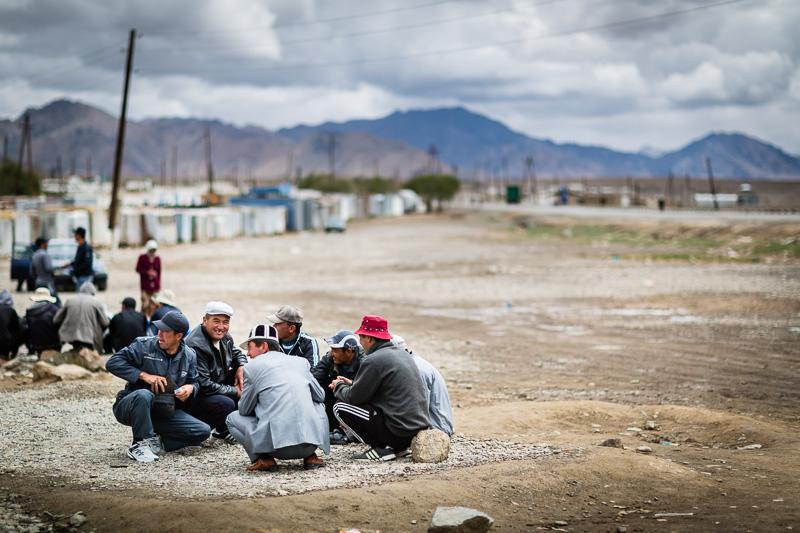 Men talking - Tajikistan